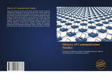 Bookcover of History of Communication Studies