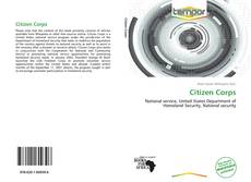 Bookcover of Citizen Corps