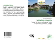 Château de Langin kitap kapağı