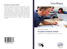 Bookcover of European Graduate School