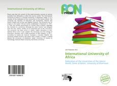 Portada del libro de International University of Africa