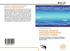 Bookcover of Graduate School of International Relations and Pacific Studies