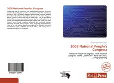Capa do livro de 2008 National People's Congress