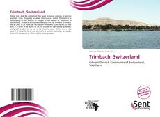Bookcover of Trimbach, Switzerland