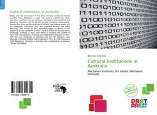 Portada del libro de Cultural institutions in Australia