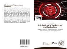Bookcover of J.B. Institute of Engineering and Technology