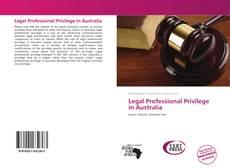 Bookcover of Legal Professional Privilege in Australia