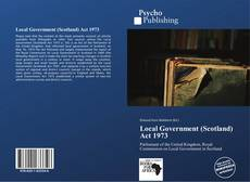 Bookcover of Local Government (Scotland) Act 1973