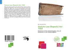 Capa do livro de Statute Law (Repeals) Act 1969