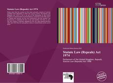 Capa do livro de Statute Law (Repeals) Act 1974