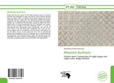 Capa do livro de Maxime Authom