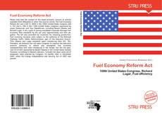 Bookcover of Fuel Economy Reform Act