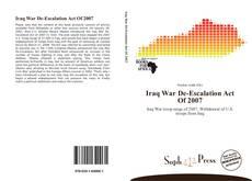 Portada del libro de Iraq War De-Escalation Act Of 2007