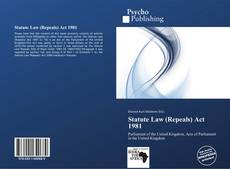Bookcover of Statute Law (Repeals) Act 1981