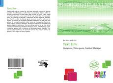 Bookcover of Text Sim