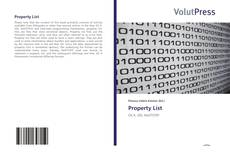 Bookcover of Property List