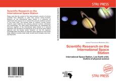 Couverture de Scientific Research on the International Space Station