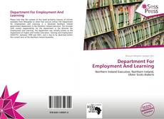 Buchcover von Department For Employment And Learning