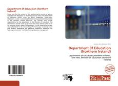 Department 0f Education (Northern Ireland)的封面