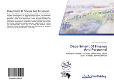 Capa do livro de Department 0f Finance And Personnel