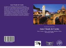 Bookcover of Anne Claude de Caylus