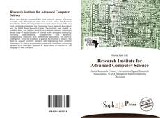 Bookcover of Research Institute for Advanced Computer Science