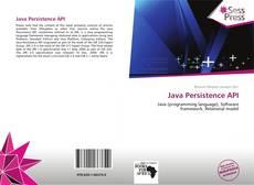 Couverture de Java Persistence API