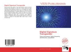 Bookcover of Digital Signature Transponder