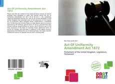 Capa do livro de Act Of Uniformity Amendment Act 1872