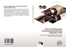 Portada del libro de Acts of Parliament (Commencement) Act (Ireland) 1795
