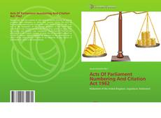 Portada del libro de Acts Of Parliament Numbering And Citation Act 1962