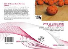 Capa do livro de 2002–03 Golden State Warriors Season