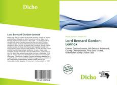 Bookcover of Lord Bernard Gordon-Lennox