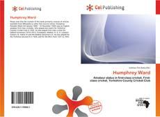 Обложка Humphrey Ward