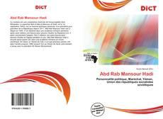 Couverture de Abd Rab Mansour Hadi
