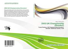 Bookcover of 2003 UK Championship (Snooker)