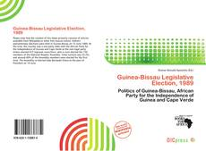Portada del libro de Guinea-Bissau Legislative Election, 1989