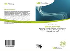 Bookcover of Miles Lawrence