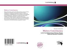 Buchcover von Malava Constituency