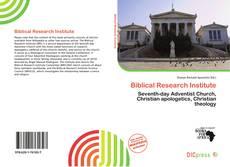 Biblical Research Institute的封面
