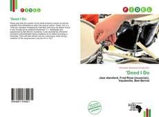 Buchcover von 'Deed I Do