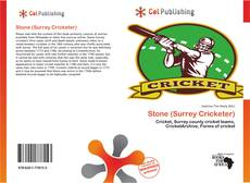 Couverture de Stone (Surrey Cricketer)
