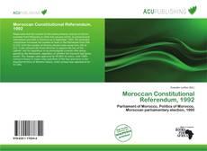Bookcover of Moroccan Constitutional Referendum, 1992