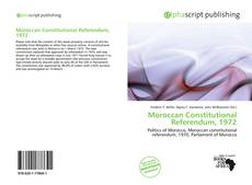 Capa do livro de Moroccan Constitutional Referendum, 1972