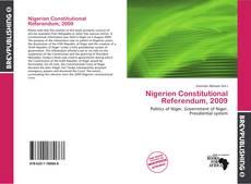 Bookcover of Nigerien Constitutional Referendum, 2009