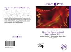 Capa do livro de Nigerien Constitutional Referendum, 1996