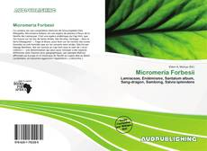 Bookcover of Micromeria Forbesii