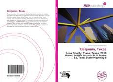 Bookcover of Benjamin, Texas