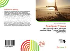 Bookcover of Resistance Training