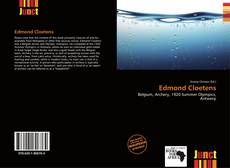 Portada del libro de Edmond Cloetens